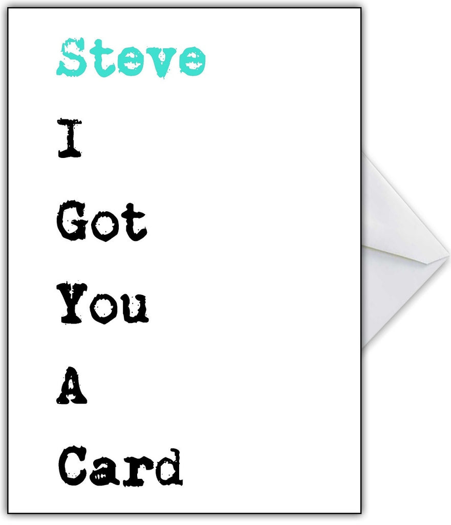 """I Got You a Card!"" Hilariously Obvious Birthday Card - That Card Shop"