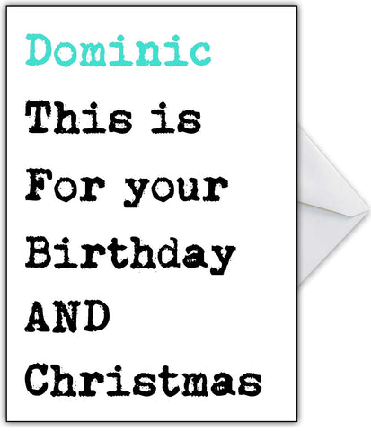 Funny Birthday AND Christmas Card!