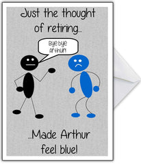 "Funny Retirement Card ""Don't feel blue!"" - That Card Shop"