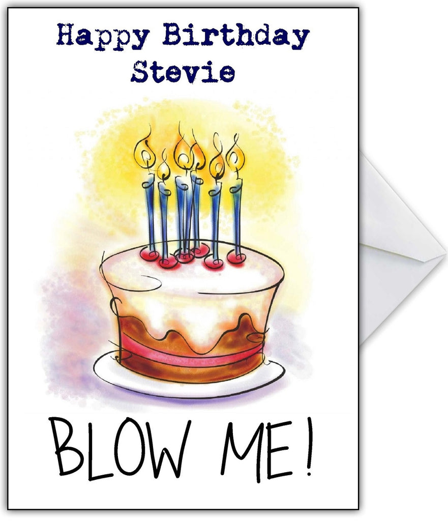 "Rude Birthday Card ""Blow Me!"" - That Card Shop"