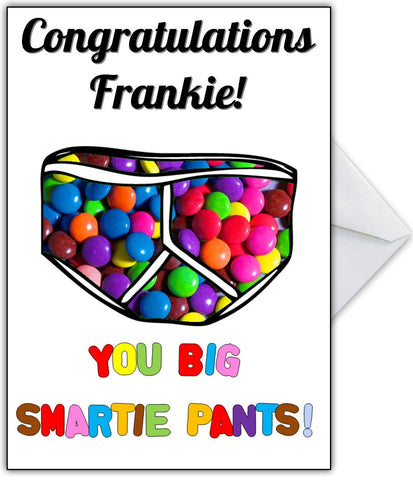 Congratulations Smartie Pants Personalised Card