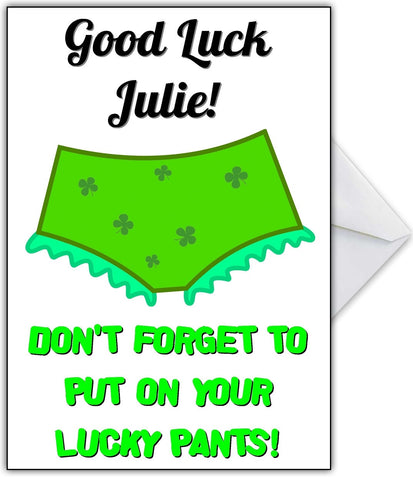 Lucky Pants Good Luck Card