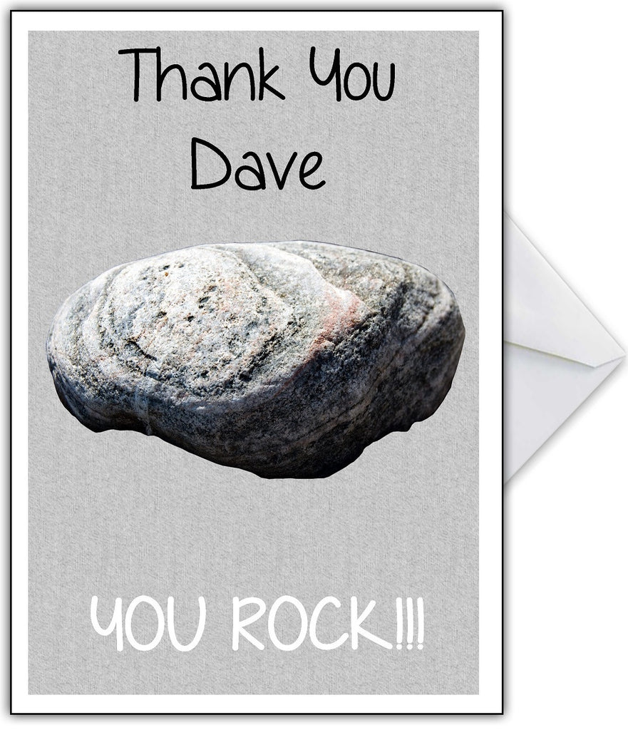 Thank You, You Rock!! Funny Greetings Card - That Card Shop