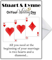 "Funny Personalised Wedding Card ""All you need at the start of a marriage..."" - That Card Shop"