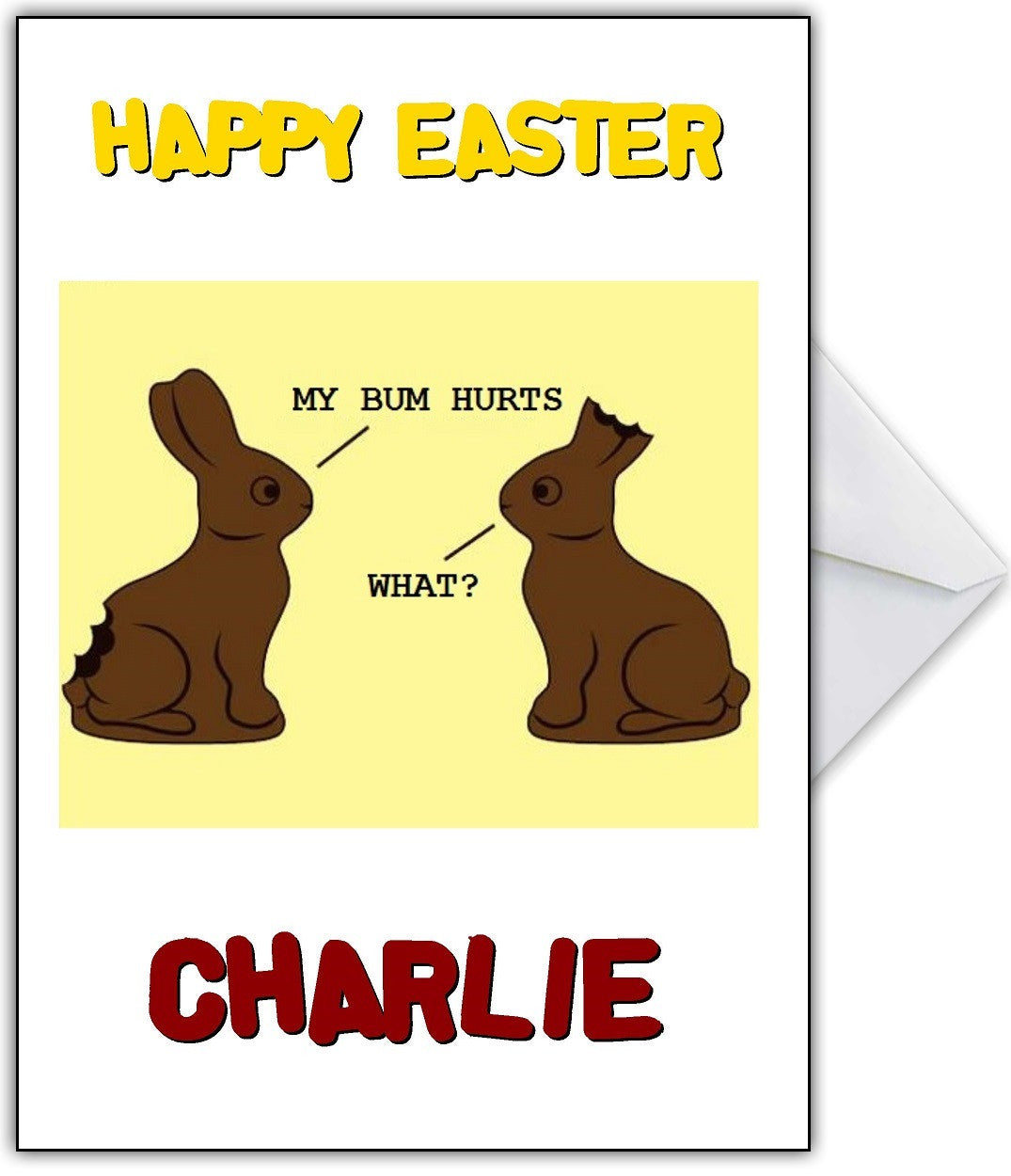 Funny easter card poor chocolate bunnies that card shop funny easter card poor chocolate bunnies that card shop kristyandbryce Choice Image