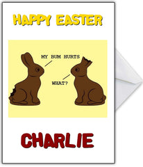 Funny Easter Card - Poor chocolate bunnies!! - That Card Shop