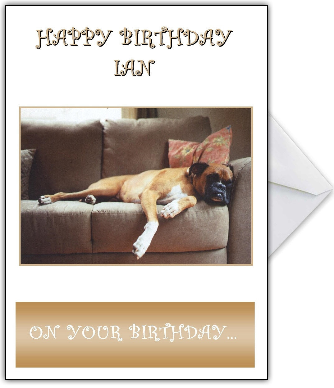 Take It Easy On Your Birthday Lazy Dog Card