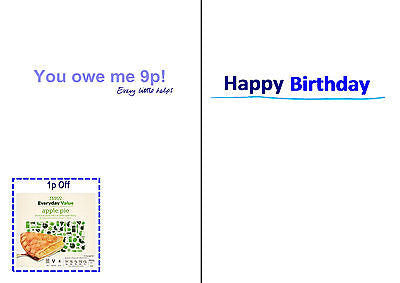 Supermarket Spoof Birthday Card Tesco Everyday Value That Card Shop