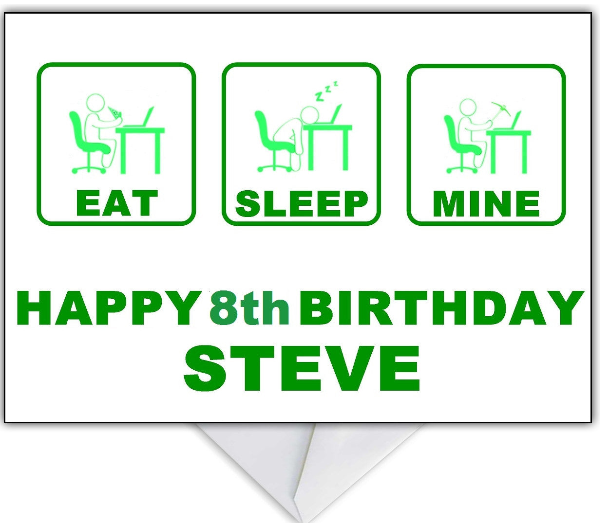 Minecraft themed birthday card eat sleep minepeat that minecraft themed birthday card eat sleep minepeat bookmarktalkfo Image collections