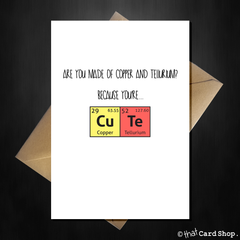 Cute Greetings Card - For the science nerd on any occasion - That Card Shop