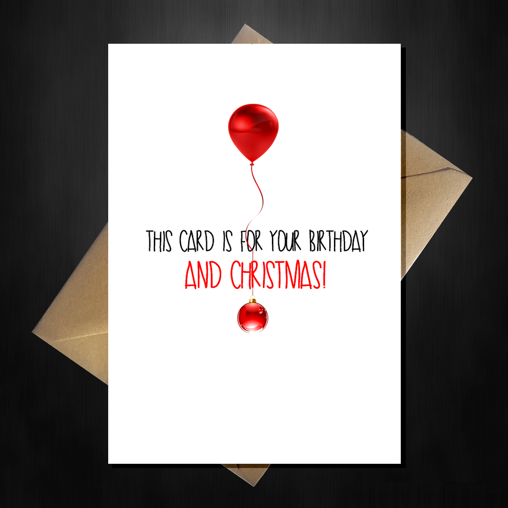 Funny Birthday AND Christmas Card - Happy Birthmas!