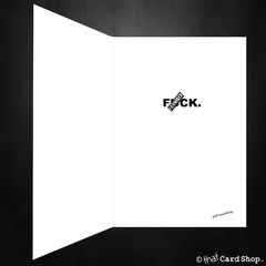 Rude F*ck List Blank Greetings Card for any occasion - That Card Shop