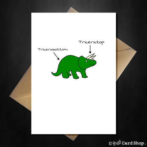 You're Triceratops! Cute Pun Dinosaur Greetings Card