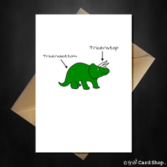 You're Triceratops! Cute Pun Dinosaur Greetings Card - That Card Shop