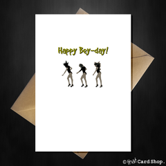 Funny Beyonce Birthday Card - Happy Bey-Day! - That Card Shop