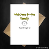 Funny Wedding / Engagement Card - Welcome to the family! - That Card Shop