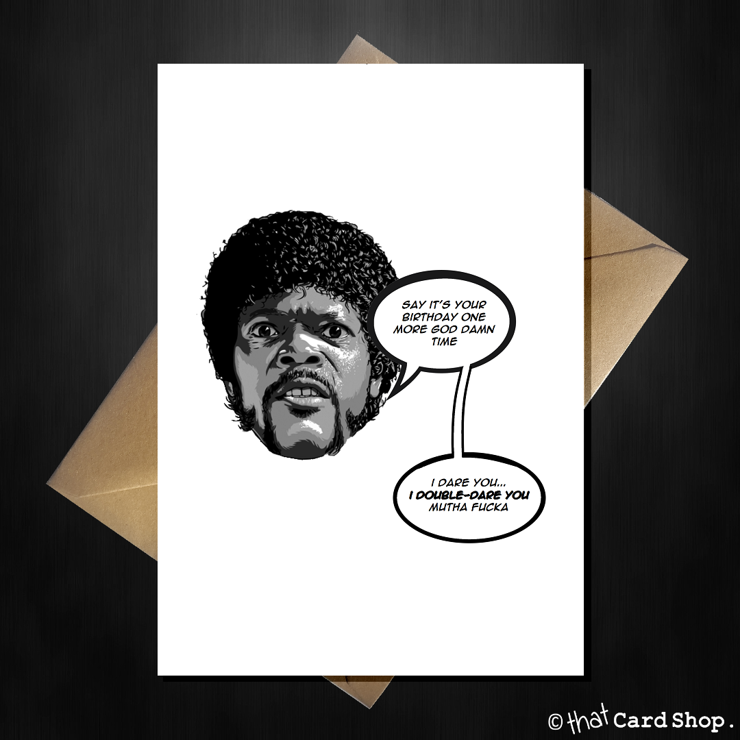 Funny Movie Themed Birthday Card Pulp Fiction That Card Shop