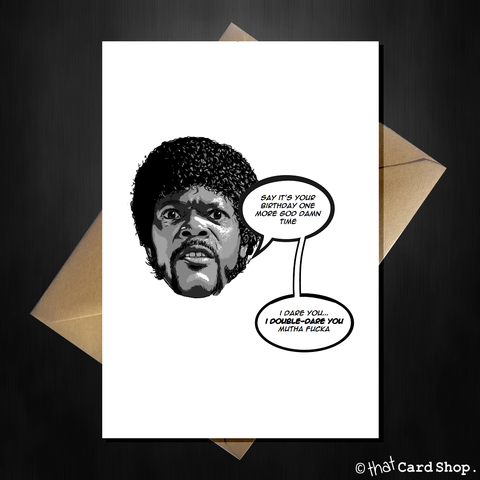 Funny Movie Themed Birthday Card - Pulp Fiction