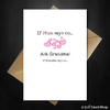 Funny Greetings Card for Grandma - When Mum says no... - That Card Shop