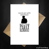 Funny Peaky Blinders Birthday Card - By Order! - That Card Shop