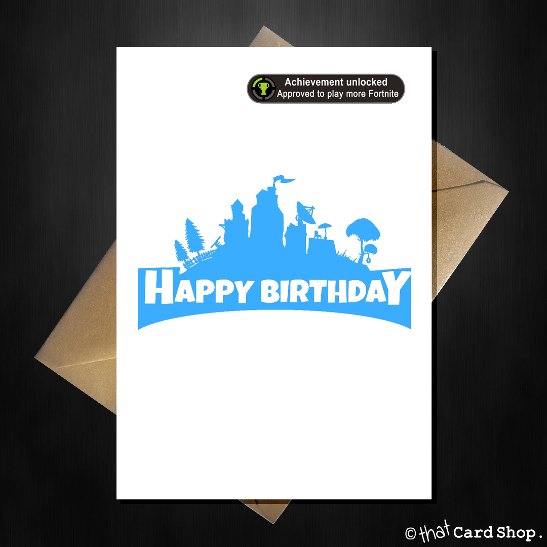 Funny Fortnite Birthday Card