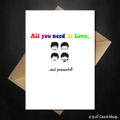 The Beatles Funny Birthday Cards -Multi designs - That Card Shop