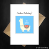 Cute Llama Birthday Card - Spit Happens! - That Card Shop