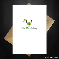 Cute Birthday Card - Hap-pea Birthday! - That Card Shop