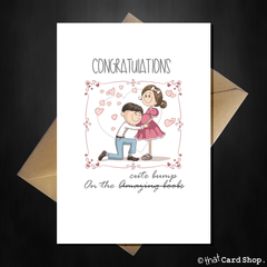 Funny Pregnancy Card - Congratulations on the cute bump! - That Card Shop