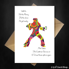 Elvis Presley Birthday Card - Funny Blue Suede Shoes Joke - That Card Shop
