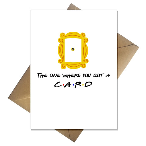 Blank Greetings Card ANY Occasion - Friends 90s TV Show Fan Birthday Anniversary