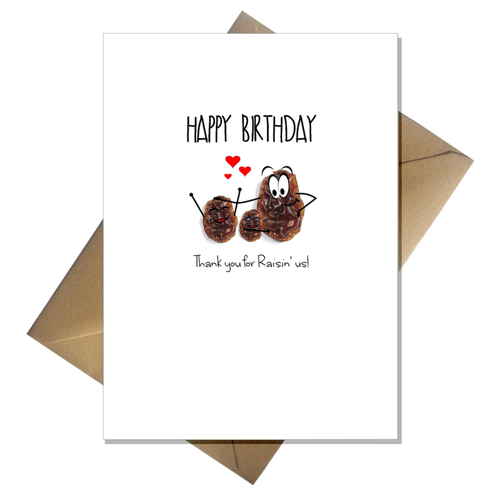 Mum / Dad Birthday Card from the kids - Thank you for raisin us! - That Card Shop