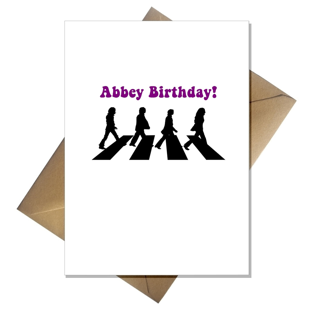 Funny Pun Beatles Birthday Card - Abbey Birthday! - That Card Shop