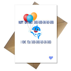 Funny Baby Shark Birthday Card - from the Baby Shark song! - That Card Shop
