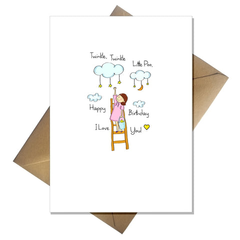 Funny Childrens Birthday Card - Twinkle, Twinkle Little poo!