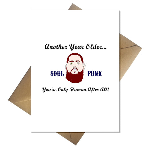Rag 'n' Bone Man Birthday Card - You're only human!