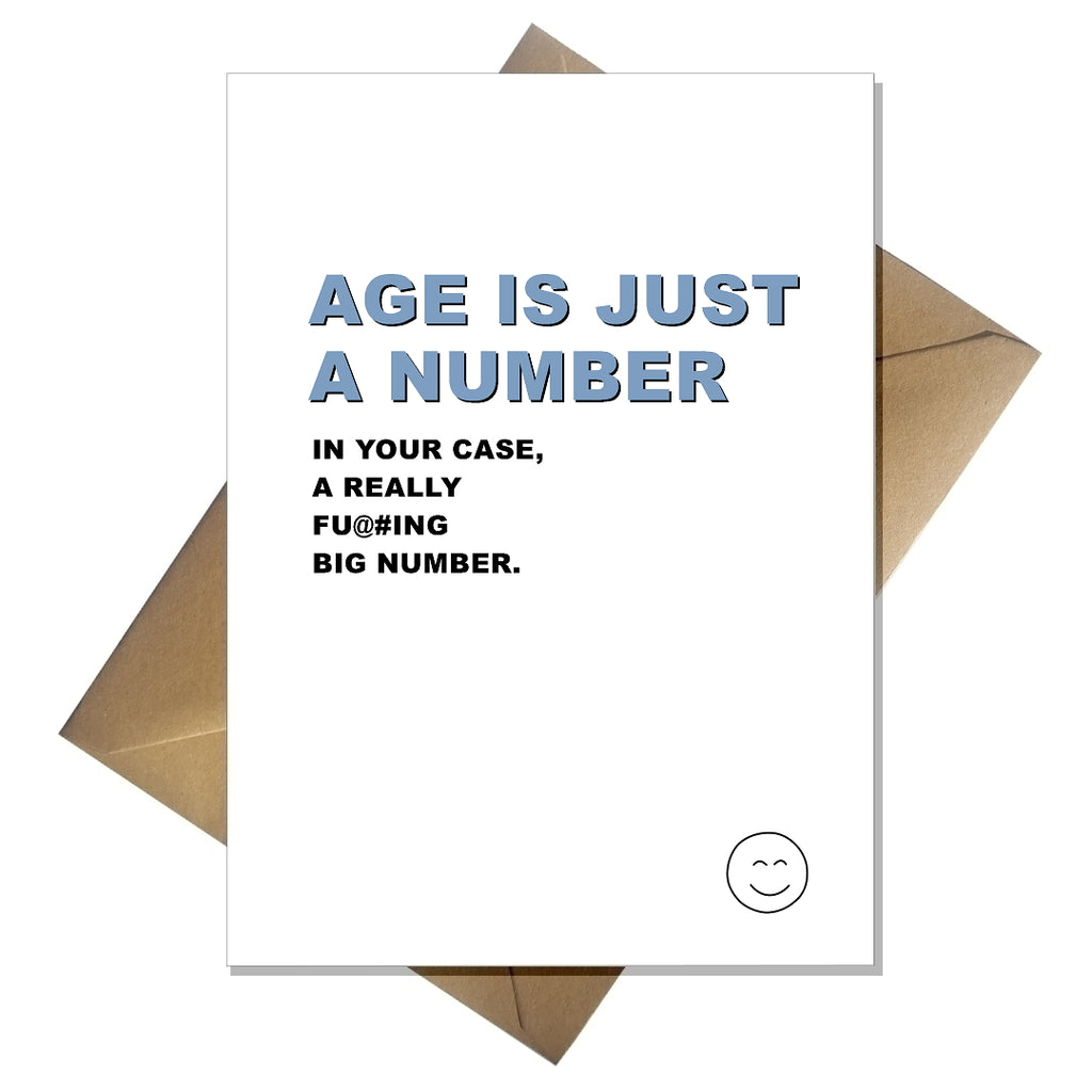 Rude 30th 40th 50th Birthday Card - Age is just a number - That Card Shop