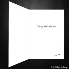 Funny New Baby Card - Congratulations on making a fun-sized human! - That Card Shop