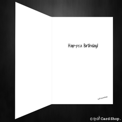 Funny Birthday Card - Bitch, peas! - That Card Shop