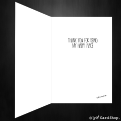 Cute Greetings Card - You are my happy place - That Card Shop