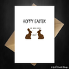 Funny Happy Easter Card - Hoppy Easter from the chocolate Bunnies - That Card Shop