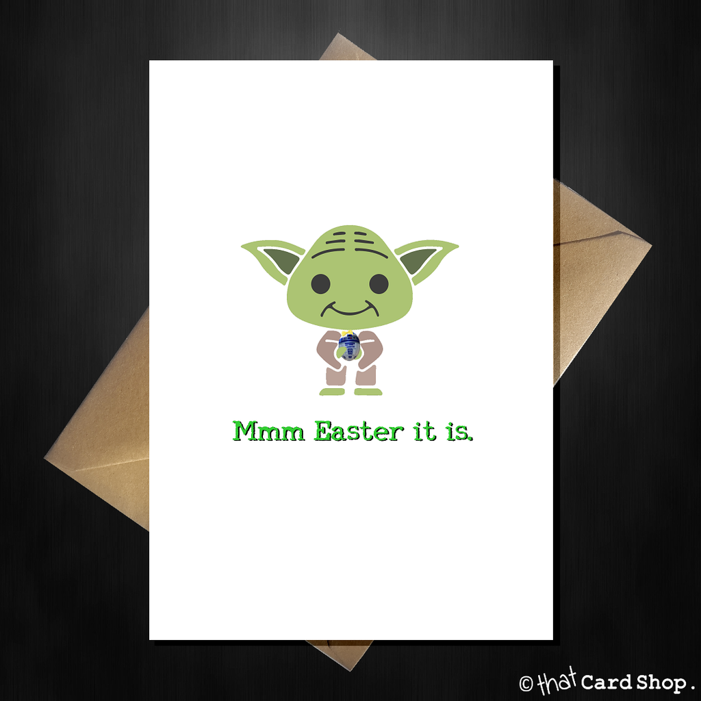 Funny Yoda Easter Card - Mmm Easter it is - That Card Shop