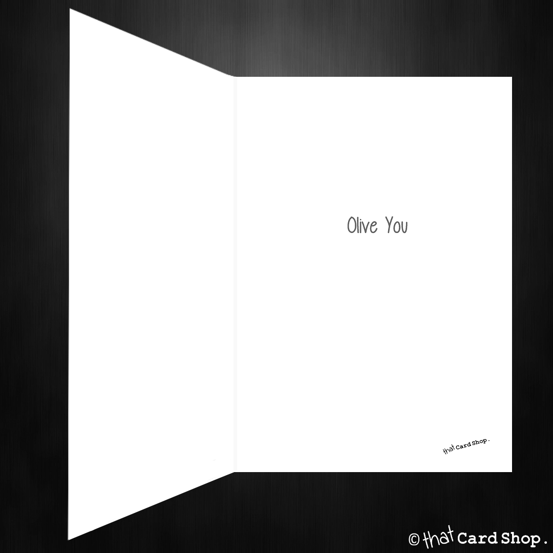 Cute Love You Greetings Card Olive You Very Much That Card Shop