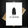 Funny STAR WARS Birthday Card - Darth Vader felt your presents - That Card Shop
