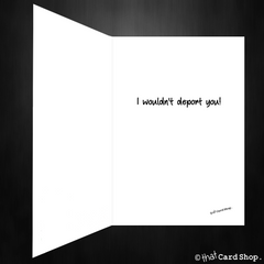 Funny Donald Trump Greetings Card - I want you my side of the wall - That Card Shop