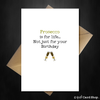 Prosecco Birthday Card - Funny Comedy Card for a Wine lover - That Card Shop