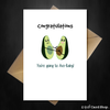 Funny New Baby Card - Congratulations you're going to Avo-Baby! - That Card Shop