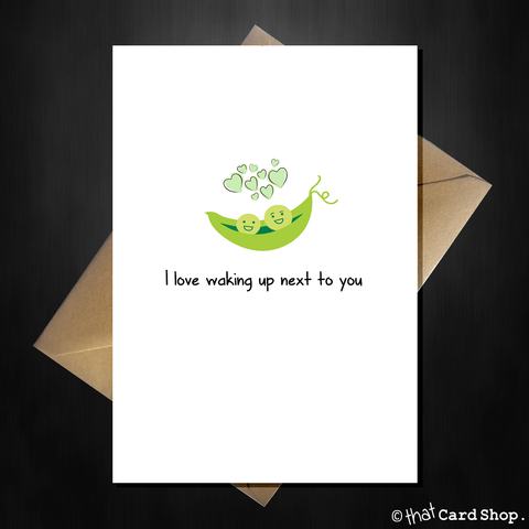 Cute Greetings Card - Two peas in a pod - Birthday / Anniversary
