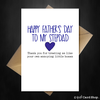 Personalised Funny Happy Fathers Day Card - Thank You Stepdad - That Card Shop