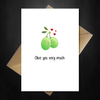 Cute Pun Valentines Day Card - Olive you! - That Card Shop